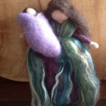 Mama and Baby Felt wool Angel