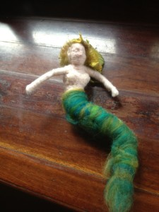 Felted mermaid